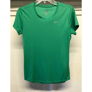 Nike green dri-fit t-shirt running workout